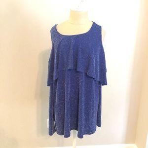 Michael Kors Cobalt Blue Cold Shoulder Dress, NWOT